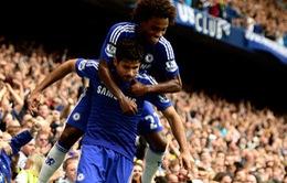 Diego Costa ghi bàn thứ 8 ở EPL, Chelsea đại thắng Aston