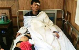 Cảnh sát cơ động gặp nạn khi chặn đoàn đua xe ở Hà Nội