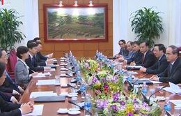 Chủ tịch MTTQ Nguyễn Thiện Nhân hội đàm với Chủ tịch Chính hiệp Trung ương Trung Quốc