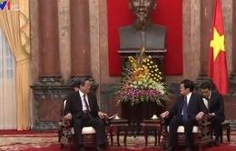 Chủ tịch nước Trương Tấn Sang tiếp Chủ tịch Chính Hiệp Trung ương Trung Quốc