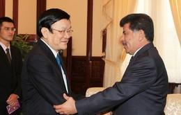 Chủ tịch nước tiếp Đại sứ Qatar
