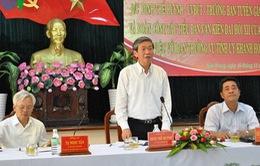Đồng chí Đinh Thế Huynh làm việc với Ban Thường vụ Tỉnh ủy Khánh Hòa