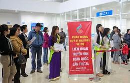 Không khí đón tiếp đại biểu dự LHTHTQ 34 tại sân bay Phú Bài