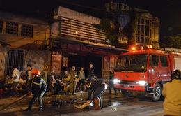 Hà Nội: Cháy xưởng sửa chữa xe máy trên đường Bạch Đằng