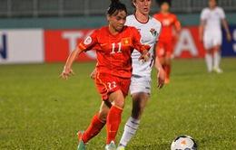 ASIAD 17: Đại thắng Hong Kong, ĐT nữ Việt Nam vào tứ kết