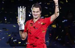 Thắng kịch tính Simon, Federer đăng quang Thượng Hải Masters