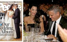 Bức ảnh cưới đầu tiên của George Clooney được công bố