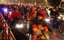 TP.HCM: Tắc nghẽn giao thông mùa Noel