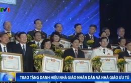 Chủ tịch nước trao danh hiệu Nhà giáo Nhân dân và Nhà giáo Ưu tú
