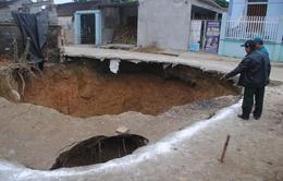 Xuất hiện thêm hố sụt lún gần 'hố tử thần' ở Thanh Hóa