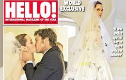 Choáng với váy cưới của Angelina Jolie