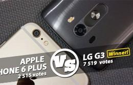 LG G3 tốt hơn iPhone 6 Plus?