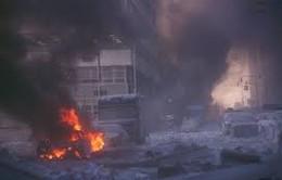 Hình ảnh kinh hoàng vụ đánh bom tự sát tại sở cảnh sát Kabul
