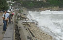 Bình Định: Hơn 100m kè Xương Lý bị sóng đánh sập
