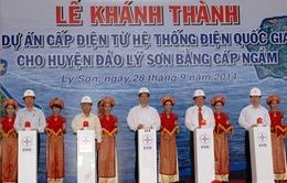 Thủ tướng đóng cầu dao khánh thành dự án cấp điện Lý Sơn
