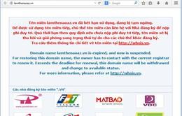 Thêm 7 website bị dừng hoạt động