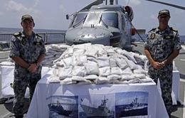 Hải quân Australia thu giữ lượng heroine trị giá hàng trăm triệu USD