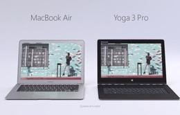 """Lenovo Yoga 3 Pro trực tiếp """"tuyên chiến"""" với MacBook Air"""