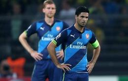 """Đại bại tại nước Đức, Mikel Arteta """"ngả mũ"""" chào thua Dortmund"""