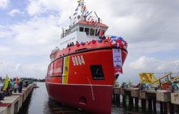 Hạ thủy tàu kéo và đặt ky tàu đa năng cho Cảnh sát Biển Việt Nam