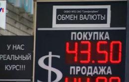 Đồng Rub giảm xuống mức kỷ lục
