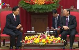 Đồng chí Tô Huy Rứa tiếp nguyên Thủ tướng Nhật Bản Yukio Hatoyama