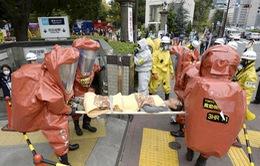 Nhật Bản diễn tập chống khủng bố bằng khí độc