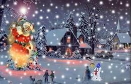 Lung linh ánh đèn Giáng sinh nhìn từ vũ trụ