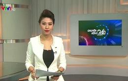 """MC Ngọc Trinh đẹp sang trọng trên trường quay """"Chuyển động 24h"""""""