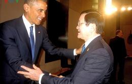 Chủ tịch nước tiếp xúc song phương Tổng thống Hoa Kỳ