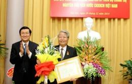 Trao huy hiệu 55 tuổi Đảng cho nguyên Chủ tịch nước Trần Đức Lương