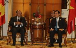 Chủ tịch nước gặp Thủ tướng Papua New Guinea