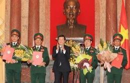 Chủ tịch nước Trương Tấn Sang phong hàm Thượng tướng cho 4 đồng chí