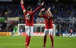 """Vòng loại Euro 2016: Rooney người hùng Tam Sư, Diego Costa """"giải hạn"""" cùng TBN"""