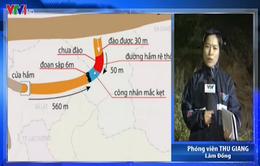 Sập hầm ở Lâm Đồng: Đã liên lạc, tiếp tế cho nạn nhân mắc kẹt