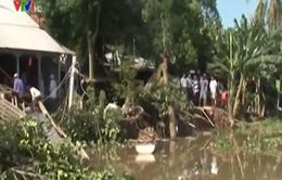 An Giang: Nhà sập xuống sông do sạt lở
