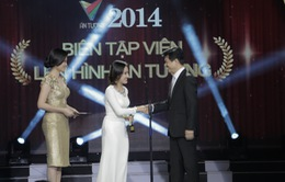 """BTV Hoài Anh bối rối giây phút """"lên hình"""" ở Ấn tượng VTV 2014"""