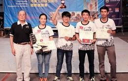 Sinh viên Việt Nam giành giảivới mô hình nhà chống động đất