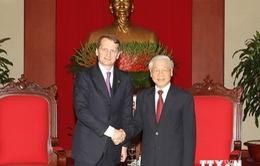 Tổng Bí thư Nguyễn Phú Trọng tiếp Chủ tịch Duma Quốc gia Liên bang Nga