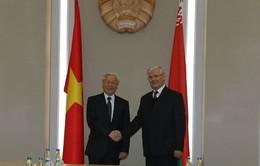 Tổng Bí thư Nguyễn Phú Trọng hội kiến Chủ tịch Hội đồng CH Belarus