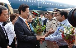 Thủ tướng Nguyễn Tấn Dũng đến Ấn Độ