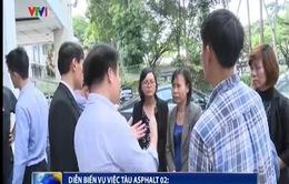 Vụ tàu Asphalt 02: Gia đình nạn nhân sang Singapore nhận thi hài