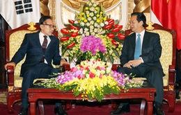 Thủ tướng tiếp nguyên Tổng thống Hàn Quốc Lee Myung-bak