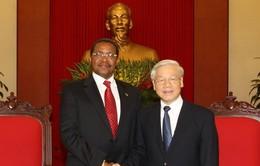 Tổng Bí thư Nguyễn Phú Trọng tiếp Tổng thống Tanzania