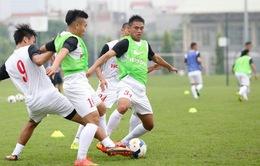 Olympic Việt Nam tập sút penalty trước đại chiến Olympic UAE