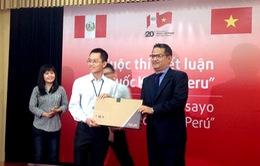 Sinh viên Việt Nam đoạt giải Nhất cuộc thi tìm hiểu đất nước Peru