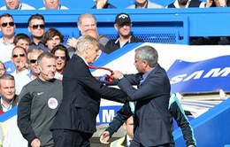 "Arsene Wenger và Mourinho suýt... ""so găng"" trong trận derby London"