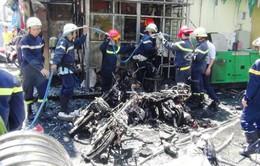 Cháy phòng giao dịch Vietinbank, hai buồng ATM bị thiêu rụi