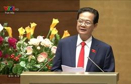 Thủ tướng Nguyễn Tấn Dũng báo cáo về tình hình kinh tế xã hội năm 2015