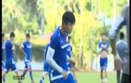 Mạc Hồng Quân, Mạnh Hùng sẵn sàng ra sân ở trận gặp U23 Lào